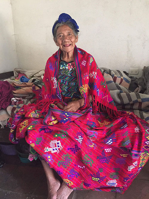 Eldery woman from feeding program