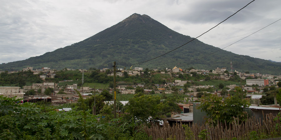 Agua Volcano, which Santa Maria is on the side of.