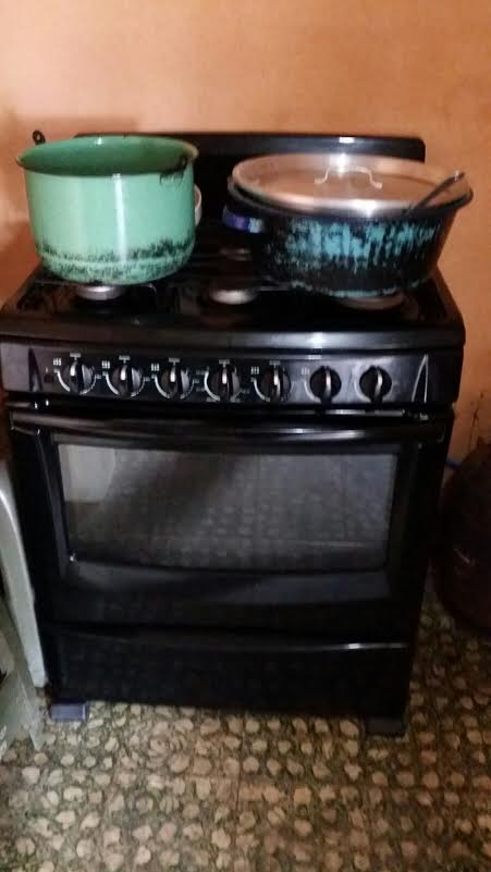 This month we were able to purchase a stove of our own from the capital. This means we no longer have the expense of renting a stove that used more than double the propane!