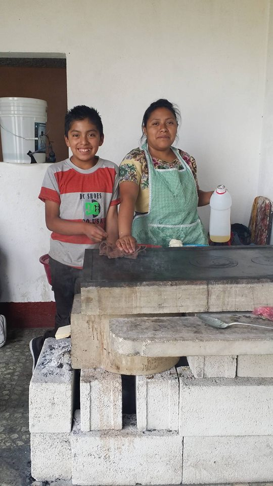 Sandra and Alex getting ready to make tortillas.