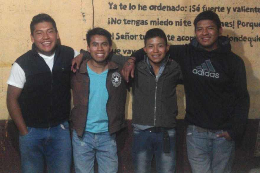 Our Board of Directors for Cosechando Felicidad  Cristian, Wilson, Edwin and Rocael